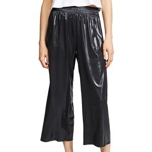 Norma Kamali shiny culottes